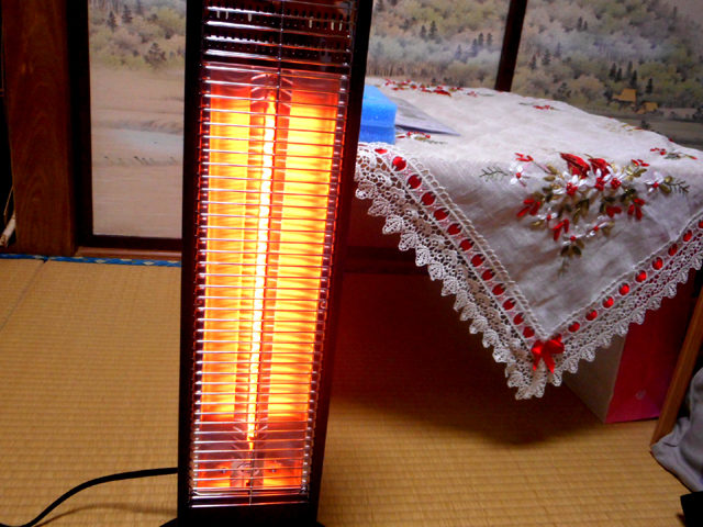 遠赤外線ヒーターで体を芯から温めるのがオススメ