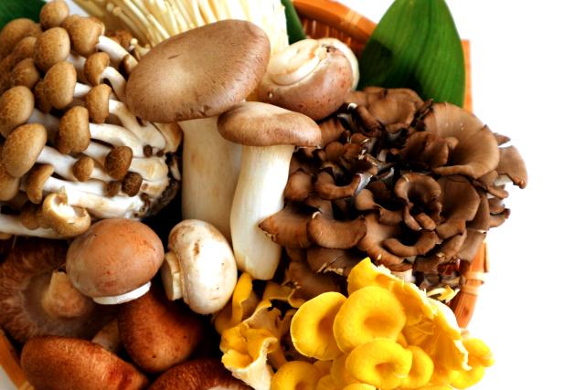 キノコ類にはビタミンB群やカルシウムの吸収を助けるビタミンDなどの栄養素が豊富