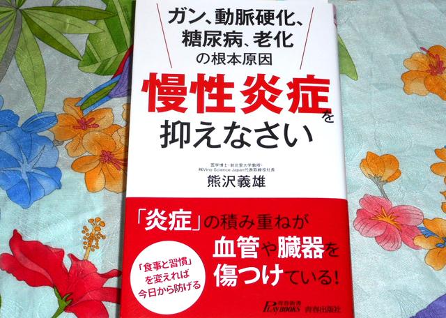 『「慢性炎症」を抑えなさい』(熊沢義雄 著 青春出版社)